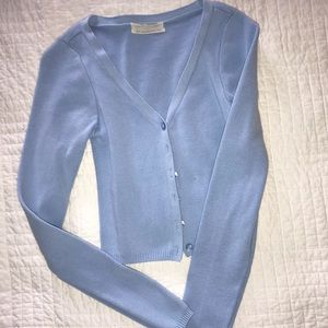 URBAN OUTFITTERS CROPPED BLUE SWEATER
